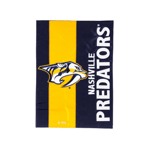 Nashville Predators Striped Garden Flag