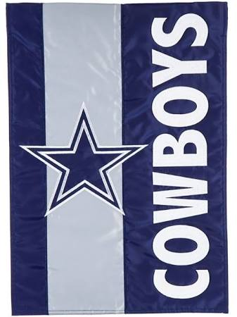 Dallas Cowboys Striped Garden Flag