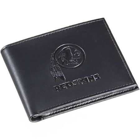 Washington Redskins Black Leather Bi-Fold Wallet