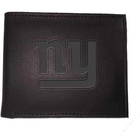 New York Giants Black Leather Bi-Fold Wallet
