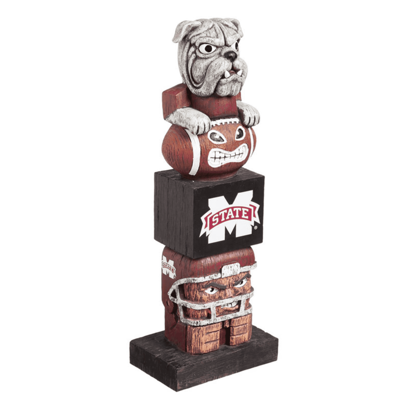 Evergreen NCAA Mississippi State Bulldogs Tiki Totem