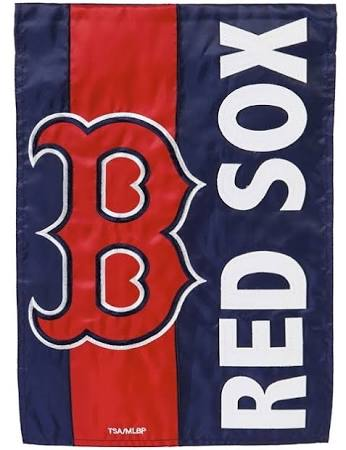 Boston Red Sox Striped Garden Flag