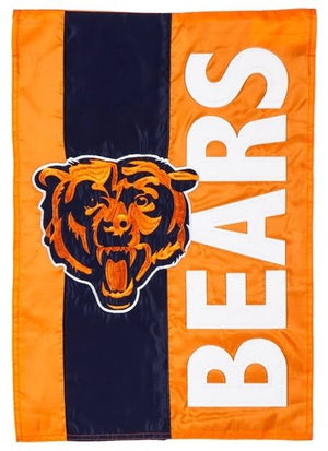 Chicago Bears Striped Garden Flag