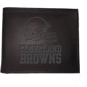 Cleveland Browns Black Leather Bi-Fold Wallet