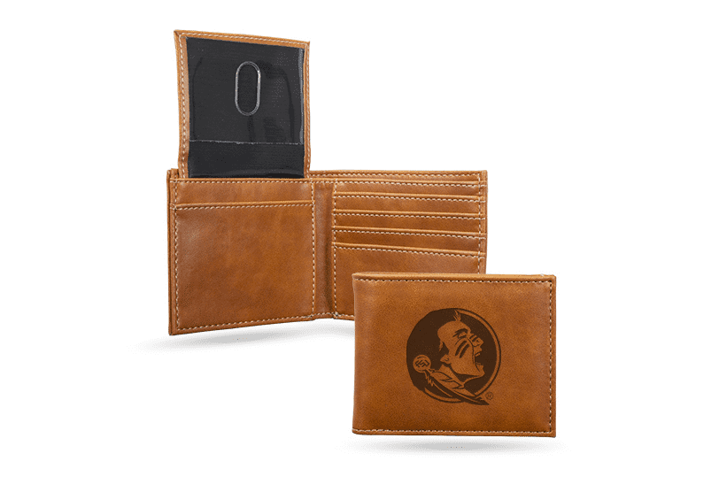Florida State Seminoles Laser Engraved Billfold Wallet