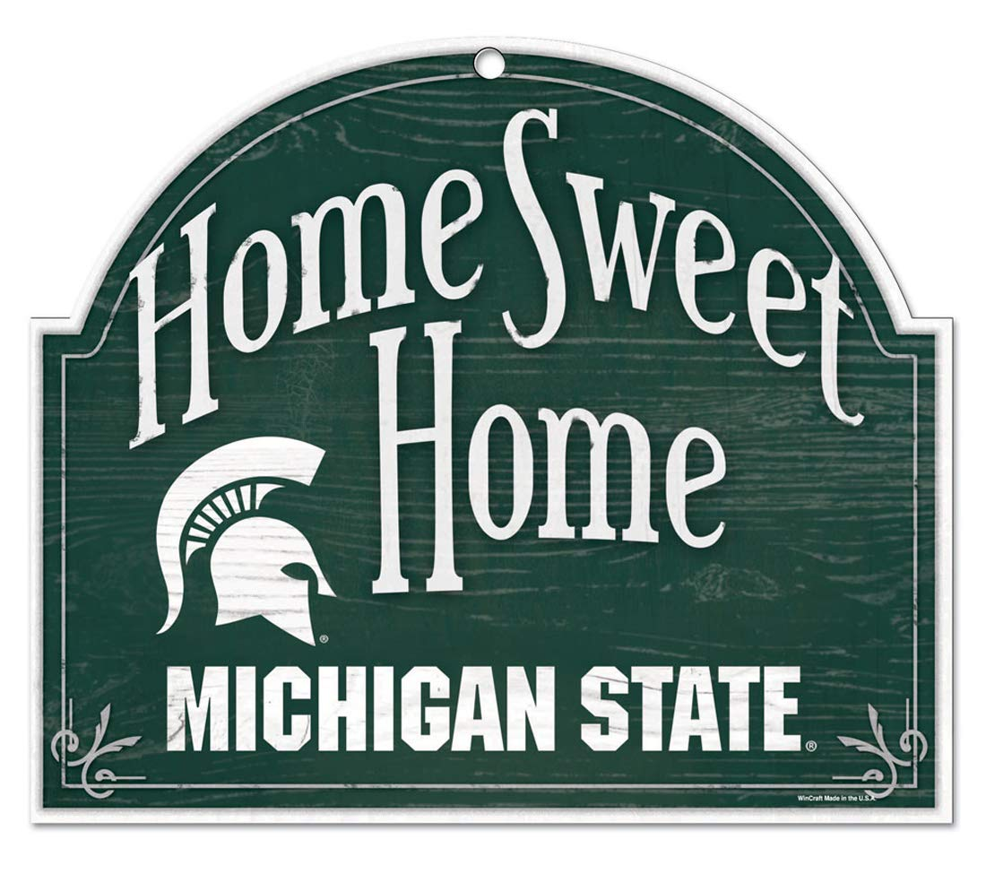Michigan State Spartans Home Sweet Home Arch Sign
