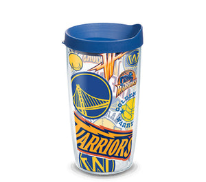 Golden State Warriors All Over 16 Oz Tumbler