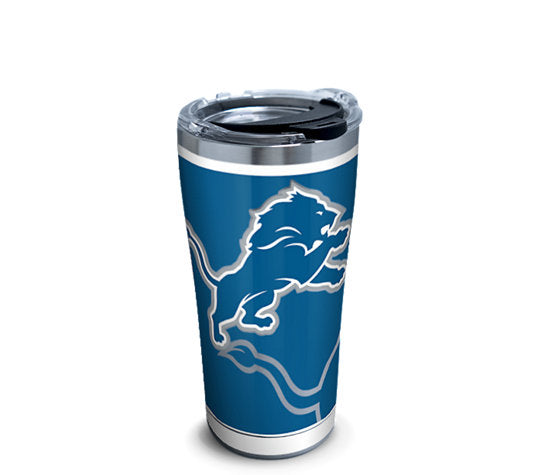 NFL Detroit Lions Rush Stainless Steel With Hammer Lid 20 Oz Tumbler
