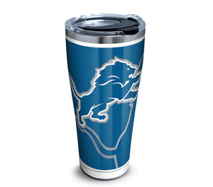 NFL Detroit Lions Rush Stainless Steel With Hammer Lid 30 Oz Tumbler