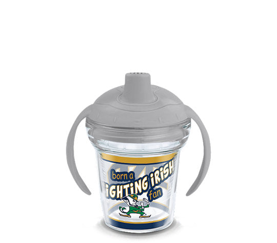 Notre Dame Fighting Irish Born A Fan Sip 6 Oz Sippy Cup