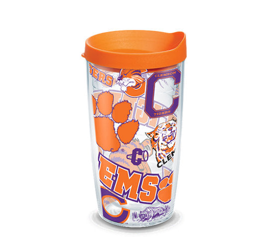 Clemson Tigers All Over 16 Oz Tervis Tumbler