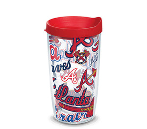 Atlanta Braves All Over 16 Oz Tumbler