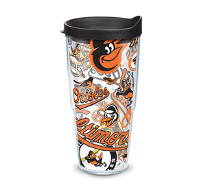Baltimore Orioles All Over 24 Oz Tumbler