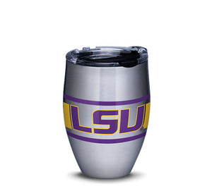 LSU Tigers Stripes Stainless Steel With Hammer Lid 12 oz