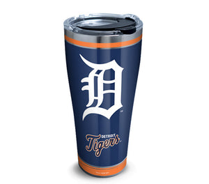 MLB Detroit Tigers Home Run Stainless Steel With Hammer Lid 30 Oz