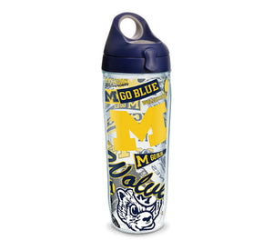 Michigan Wolverines All Over 24 Oz Water Bottle