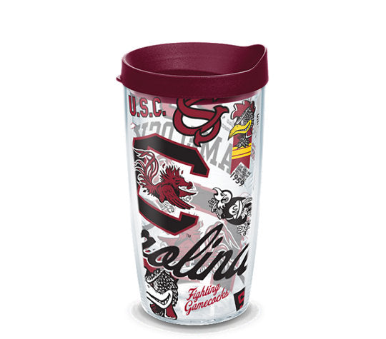 South Carolina Gamecocks All Over 16 Oz Tumbler