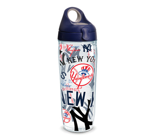 New York Yankees All Over 24 Oz Water Bottle