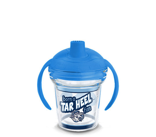 North Carolina Tar Heels Born A Fan Sip 6 Oz Sippy Cup