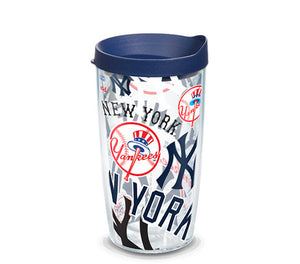 New York Yankees All Over 16 Oz Tumbler