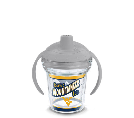 West Virginia Mountaineers Born A Fan Sip 6 Oz Sippy Cup