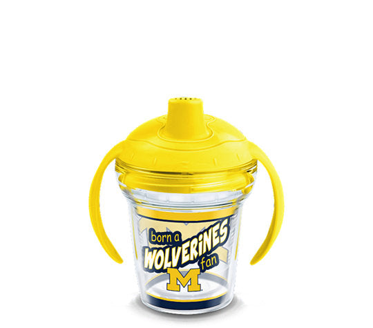 Michigan Wolverines Born A Fan Sip 6 Oz Sippy Cup