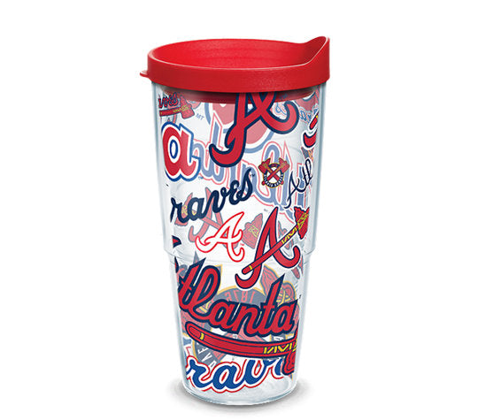 Atlanta Braves All Over 24 Oz Tumbler