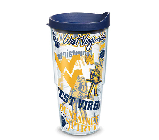 West Virginia Mountaineers All Over 24 Oz Tumbler