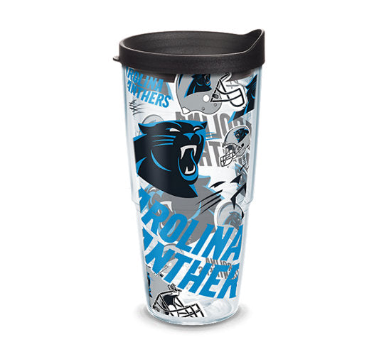 Carolina Panthers All Over 24 Oz Tumbler
