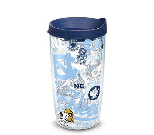 North Carolina Tar Heels All Over 16 Oz Tumbler