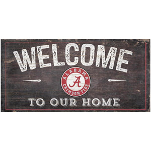 Alabama Crimson Tide Welcome Distressed Sign