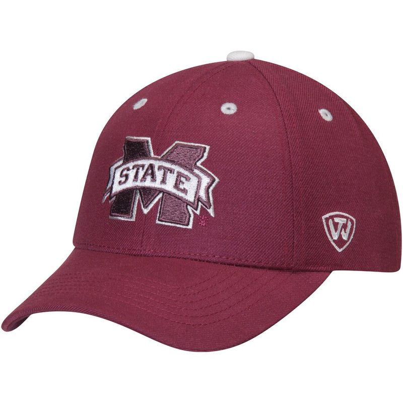 Mississippi State Bulldogs Triple Threat Adjustable Hat - Maroon