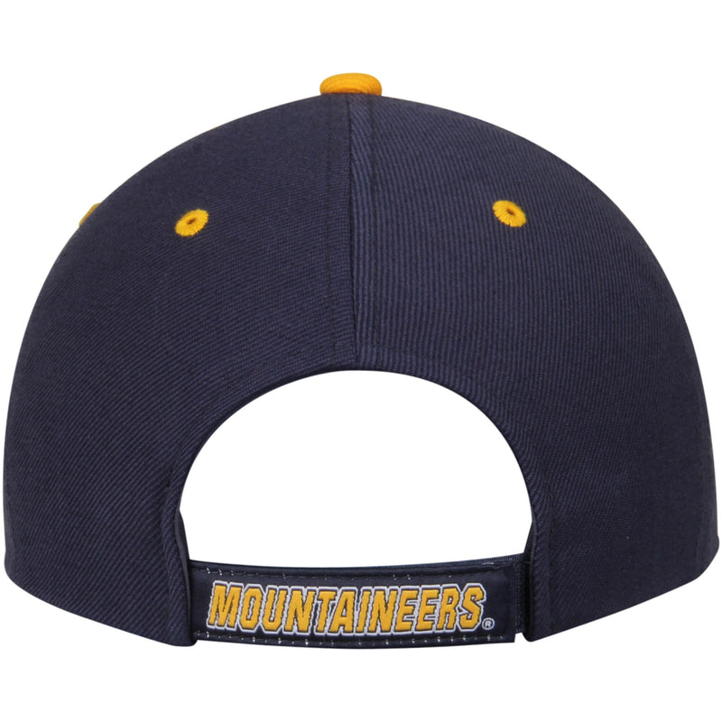 West Virginia Mountaineers Adjustable Strap Navy Triple Threat Hat