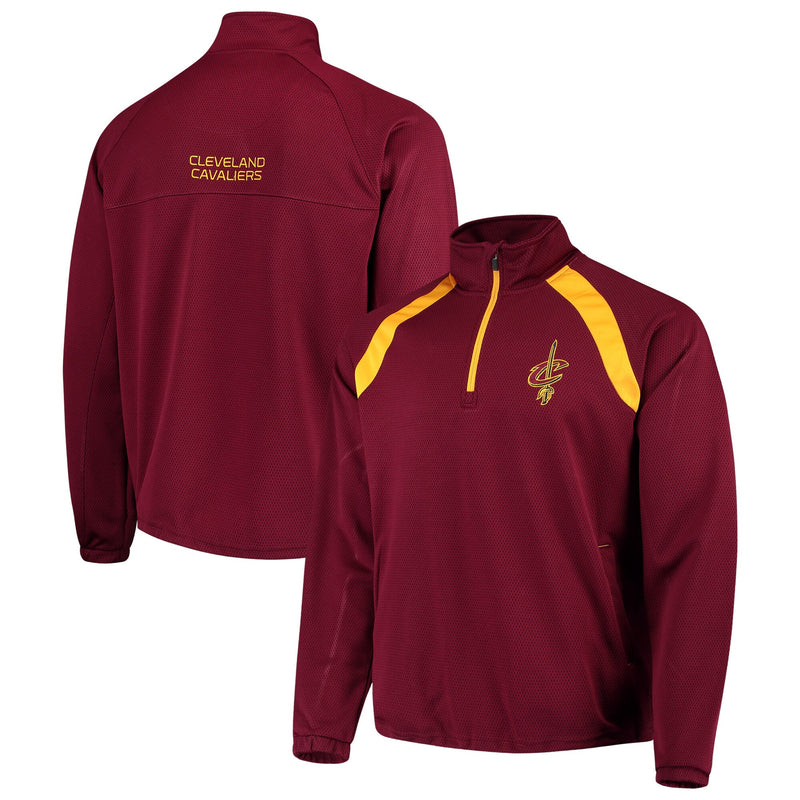 Cleveland Cavaliers High Impact Quarter-Zip Pullover Jacket - WineV