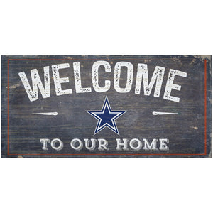 Dallas Cowboys Welcome Distressed Sign