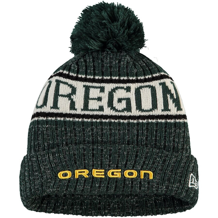 Green Oregon Ducks Sport Knit Hat with Pom