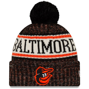 Baltimore Orioles New Era Primary Logo Sport Cuffed Knit Hat