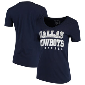 Dallas Cowboys Practice Glitter Navy Women's Shirt