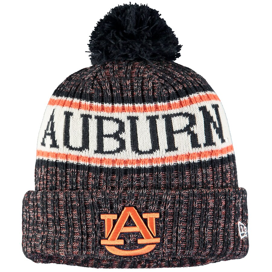 Auburn Tigers Team Logo Sport Cuffed Knit Hat with Pom