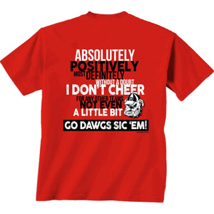 Georgia Bulldogs Only Georgia T-Shirt