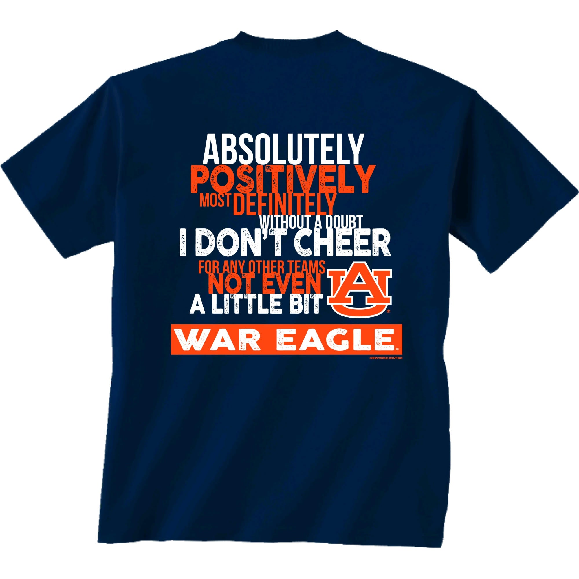 Auburn Tigers Absolutely Navy T-Shirt