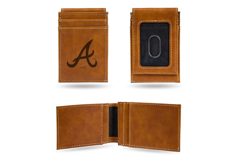 Atlanta Braves Laser Engraved Front Pocket Wallet