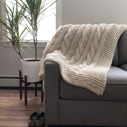 Perfect Cabled Blanket