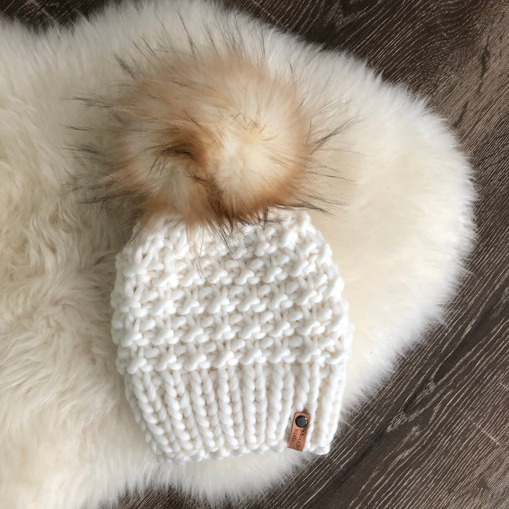Shaughnessy Hat with Faux Fur Pom Pom