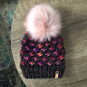 Luxury Lotus Flower Beanie in Pearl Ten and Archangel