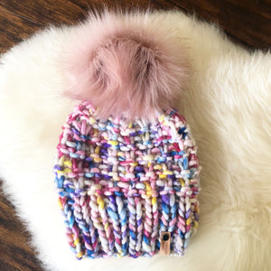 Custom Kids Shaughnessy Hat with Faux Fur Pom Pom