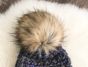 Dirty Blonde Faux Fur Pom Pom