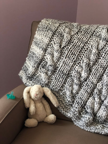 The Baby Perfect Cabled Blanket