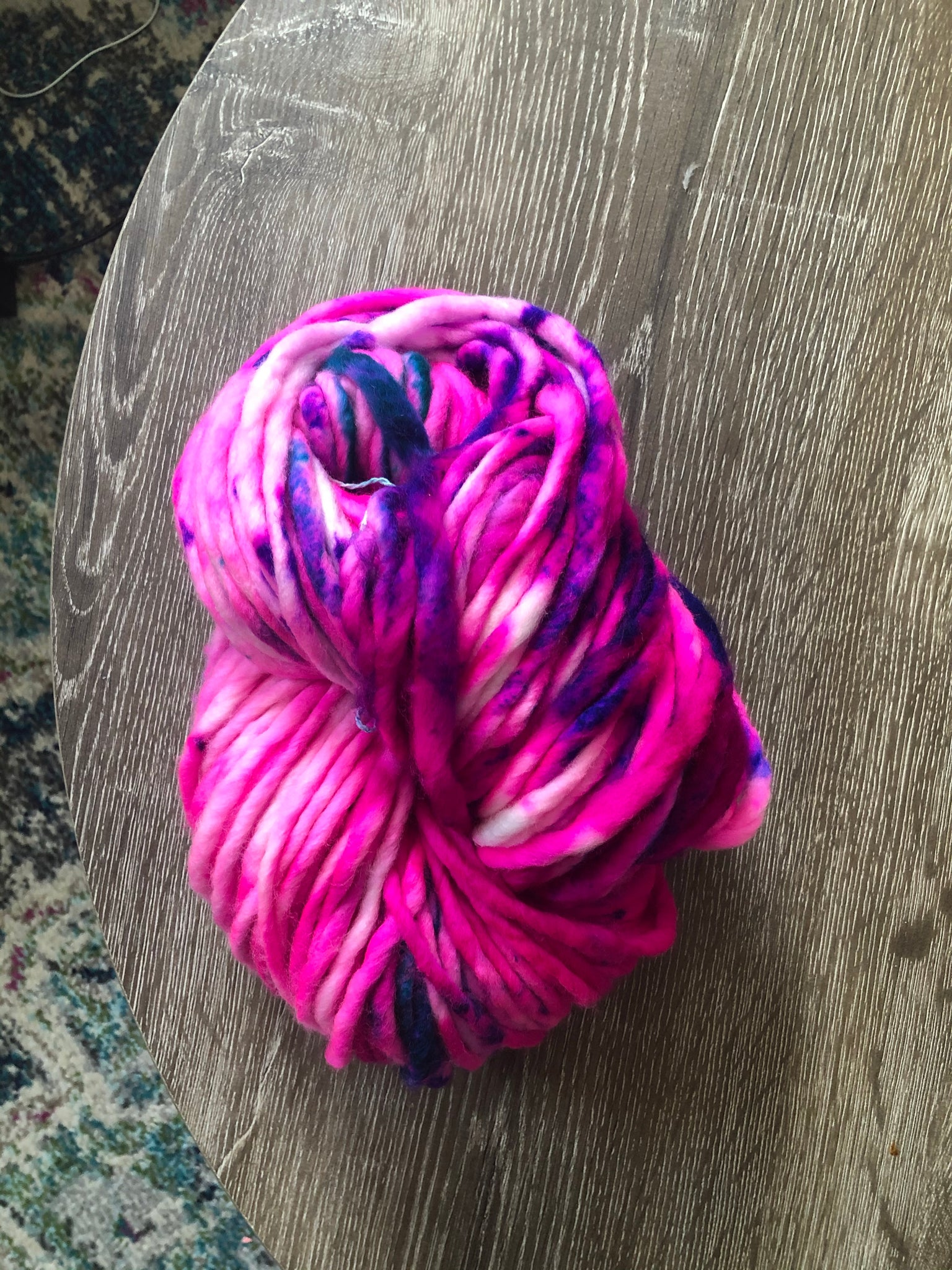 Custom Neon Pink Hand dyed Lux