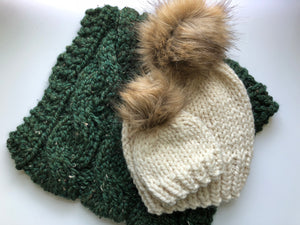 Mommy and me Faux Fur hat set